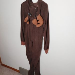 Bluenotes Reindeer Costume Onesie Christmas Pyjamas Small